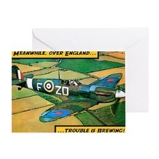 Spitfire - Trouble Brewing! Greeting Card
