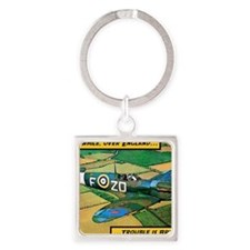 Spitfire - Trouble Brewing! Square Keychain