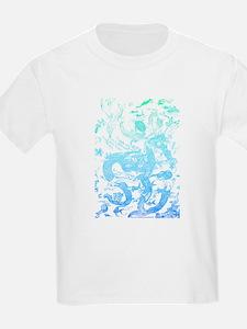 Underwater Aqua on Light T-Shirt
