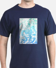 Underwater Aqua on Light T-Shirt