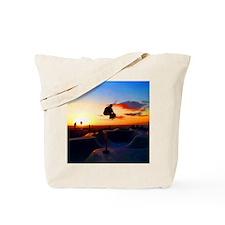 Skateboard Sunset Tote Bag