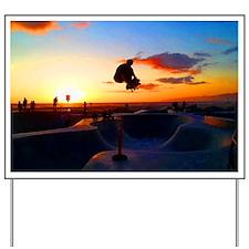 Skateboard Sunset Yard Sign