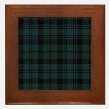 Campbell Scottish Tartan Plaid Framed Tile