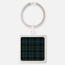 Campbell Scottish Tartan Plaid Square Keychain