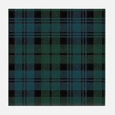 Campbell Scottish Tartan Plaid Tile Coaster