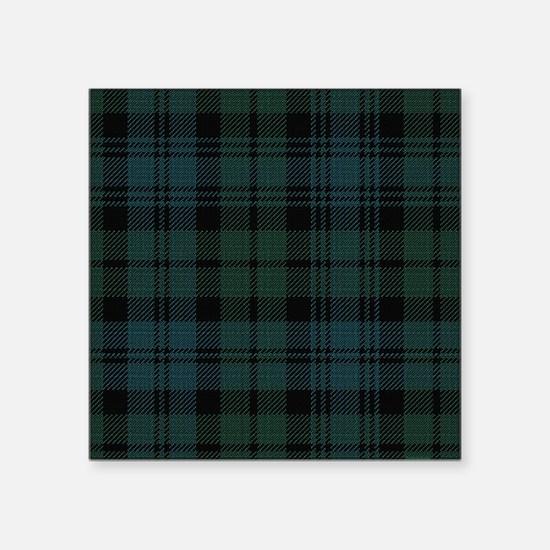 "Campbell Scottish Tartan Pl Square Sticker 3"" x 3"""