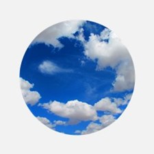 """Cloudy Sky 3.5"""" Button"""