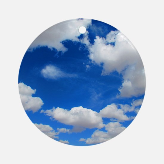 Cloudy Sky Round Ornament