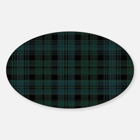 Cameron Ancient Celtic Tartan Sticker (Oval)