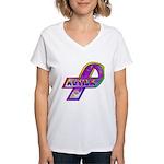 AUTISM Ribbon  Women's V-Neck T-Shirt