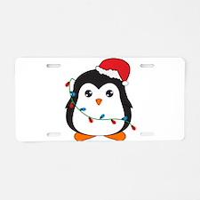 Penguin Aluminum License Plate