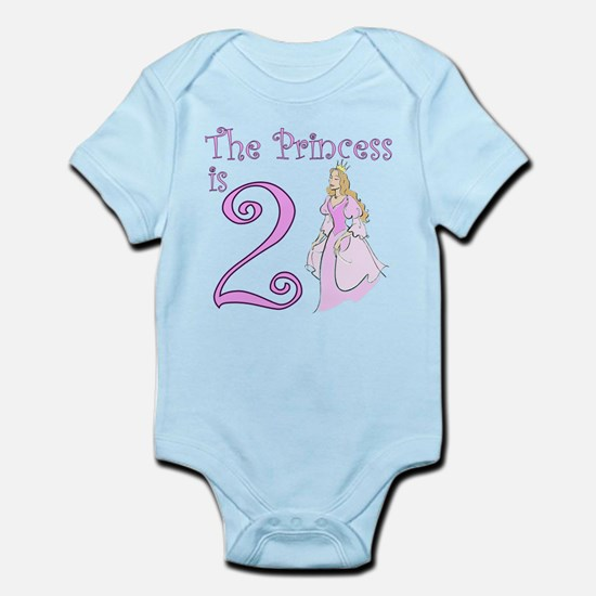 The Princess is 2 Infant Bodysuit