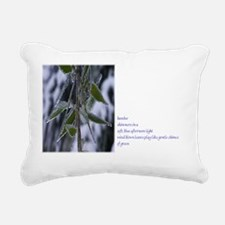 Bamboo in the Ice Rectangular Canvas Pillow