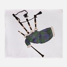 Bagpipes Throw Blanket