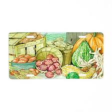 Fall Harvest - Small Servin Aluminum License Plate