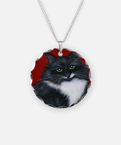 Tuxedo Cat Twinkle Toes Necklace