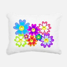 Flower Power Rectangular Canvas Pillow