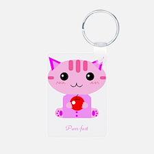 Pink kitty Keychains