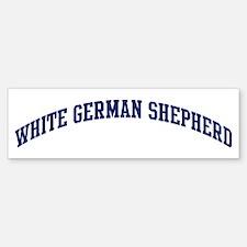 White German Shepherd (blue) Bumper Bumper Bumper Sticker