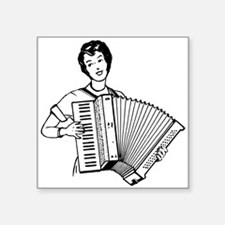 Woman Playing Accordion Sticker