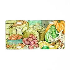 Fall Harvest - Large Servin Aluminum License Plate