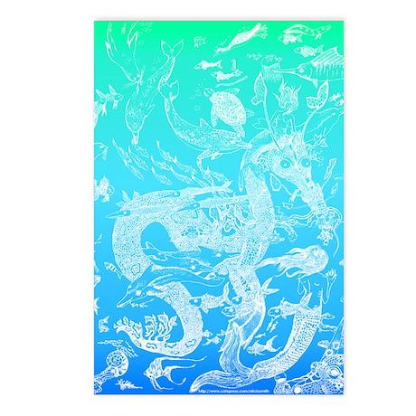 Underwater Light on Aqua Postcards (Package of 8)