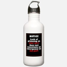 Lack of Planning Water Bottle