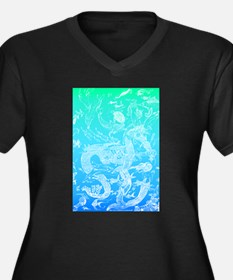 Underwater Light on Aqua Women's Plus Size V-Neck