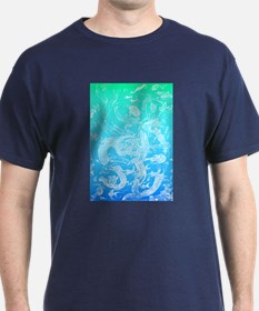 Underwater Light on Aqua T-Shirt
