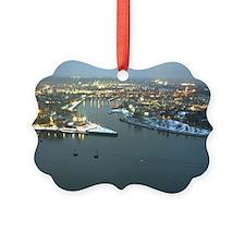 Rhine river & Mosel winter Ornament