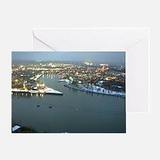 Rhine river & Mosel winter Greeting Card