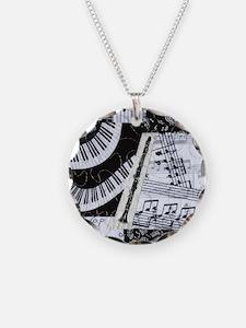 0562-ipadsleeve-clarinet Necklace Circle Charm