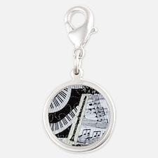 0562-ipadhard-clarinet Silver Round Charm