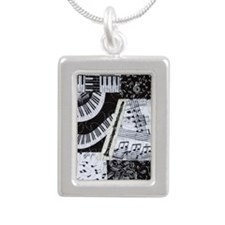 0562-nook-clarinet Silver Portrait Necklace