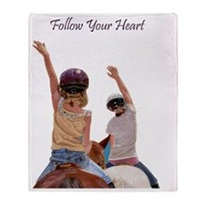 Follow Your Heart Horse Throw Blanket