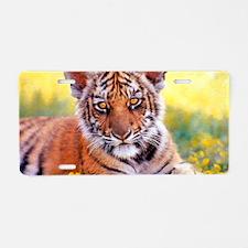 Tiger Baby Cub Aluminum License Plate