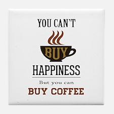 Happiness - Buy Coffee Tile Coaster