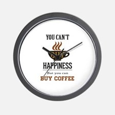 Happiness - Buy Coffee Wall Clock