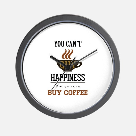 Happiness - Buy Coffee Wall Clock