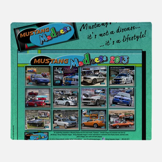 2013 MADNESS Mustang throw pillow Throw Blanket