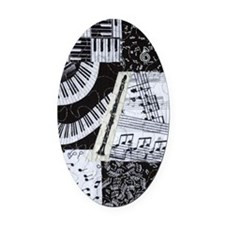 0562-clarinet Oval Car Magnet