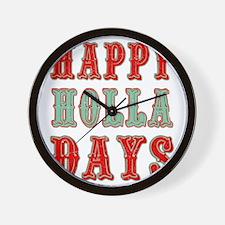 Happy Holla Days Wall Clock