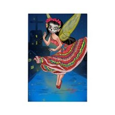 Mariachi Fairy with Dia de los Mu Rectangle Magnet