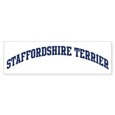 Staffordshire Terrier (blue) Bumper Bumper Sticker