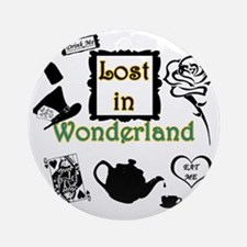 Lost in Wonderland Round Ornament