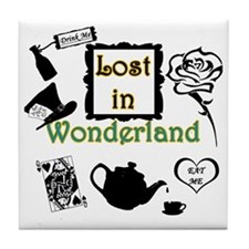 Lost in Wonderland Tile Coaster