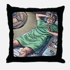 Vasectomy fear, conceptual artwork Throw Pillow
