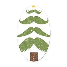 Mustache Tree Oval Car Magnet