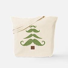 Mustache Tree Tote Bag