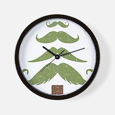 Mustache Tree Wall Clock